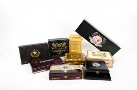 A Group Of Nine Cigar Boxes