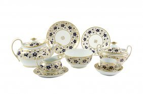 An Assembled English Porcelain Tea Service For Eight,