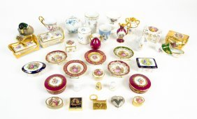 A Collection Of Limoges And Other Continental Porcelain