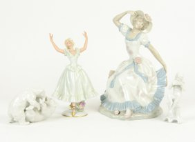 A Group Of Four German Porcelain Figurines