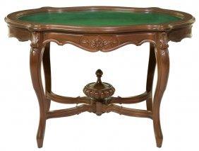 A Louis Xv Style Walnut Vitrine Table