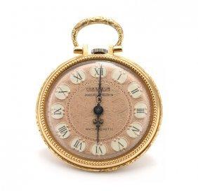 A 14 Karat Yellow Gold Ladies Pocket Watch