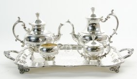 An American Silver-plate Tea And Coffee Service