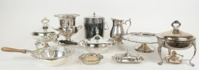 A Collection Of Silver-plate Table Articles