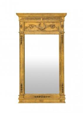 A Continental Giltwood Trumeau Mirror