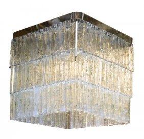 An Italian Mid-century Modern Murano Glass Chandelier,