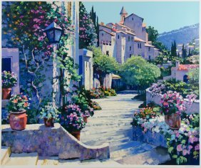 Sausalito Panorama By Howard Behrens, Serigraph