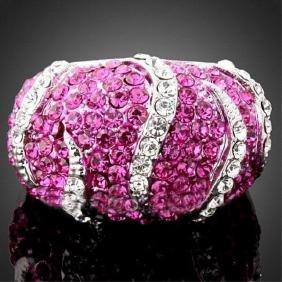 Pink Animal Swarovski Crystal Ring