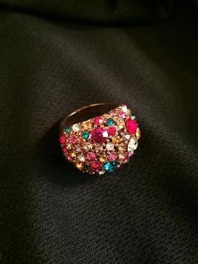 Swarovski Crystal Kaleidoscope Ring