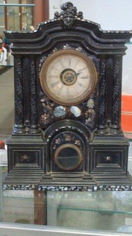Exquisite 19thc Cast Iron Ansonia Mantel Clock