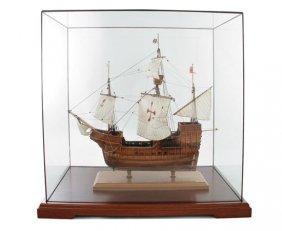 Spanish Galleon, Model Ship Under Glass