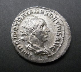 Rare Ancient Roman Coin, Trajan Decius 249-251 Ad