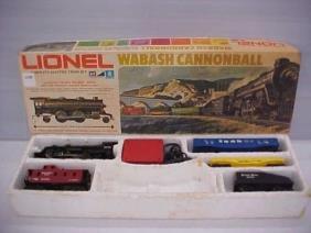 Lionel train set wabash cannonball trail