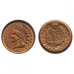 1860 Indian Head Cent - Choice Bu - 4 Diamonds