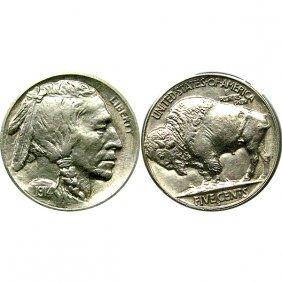 1914 S Buffalo Nickel - Choice Bu