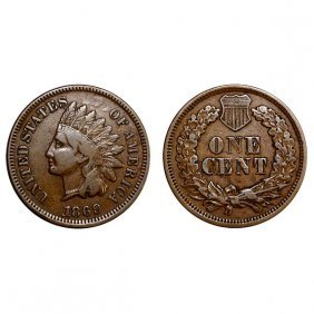 1869 Indian Head Cent - Fine