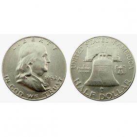 1952 S Franklin Half Dollar - Bu