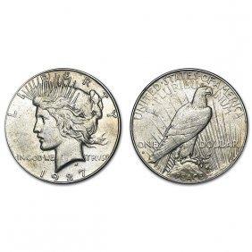 1927 S Peace Silver Dollar - Au