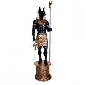 "Statue Of Egyptian God Anubis 94""., 45 Lbs"