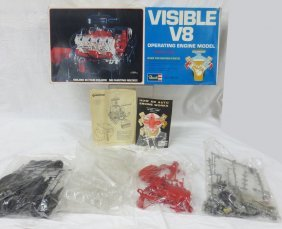Visible V8 Operating Engine Model By Revell