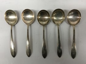 5 Sterling Silver Spoons