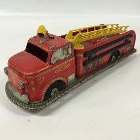 Marx Toy Fire Truck