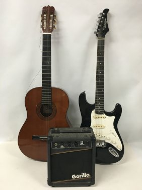Two (2) Guitars And Amp