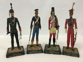 Hand Made Folk Art Military Soldiers