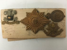 Military Pins, Cheshire, Fishguard, Welch Regiment, Wwi