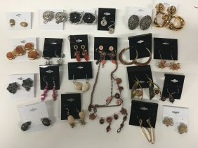 Jewelry Collection: Earrings, Gemstones And Enamel