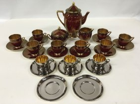 Carlton Ware Rouge Royale Coffee Service