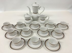Zajecar Yugoslavia Porcelain Coffee Service