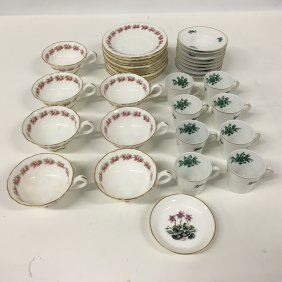 Cauldon England And Va Portugal Teacups And Saucers