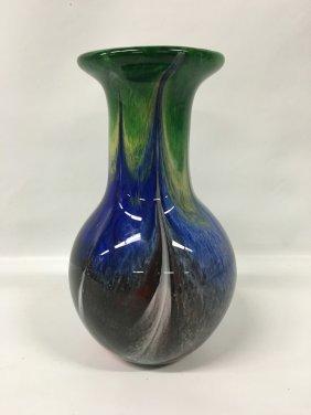 Italian Cased Glass Vase