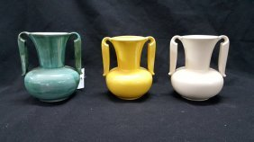 3-stangl Pottery Vases, Variations Of #3103