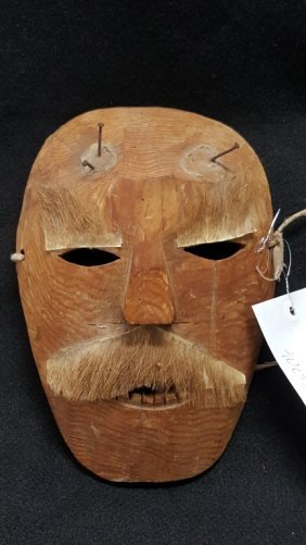 An Antique Inuit (?) Carved Woden Mask