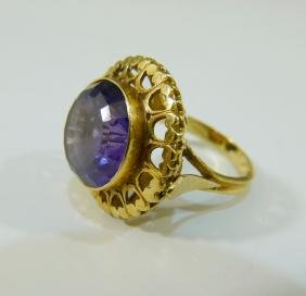 14K GOLD ALEXANDRITE RING
