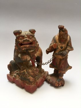 Antique Wood Carving Figures