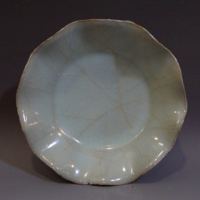 Antique Chinese Celadon Porcelain Dish