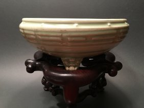 Antique Chinese Longquan Footed Bowl/censer, Yuan-ming