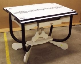1164: Art Deco Enamel Top Table : Lot 1164