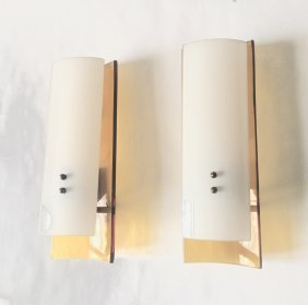 Cristal Art, Pair Of Wall Lamps