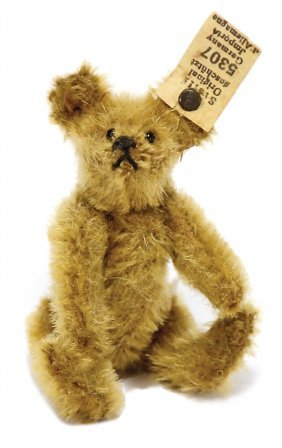 Steiff Bear, '20s, Button And White Cloth Tag Label,