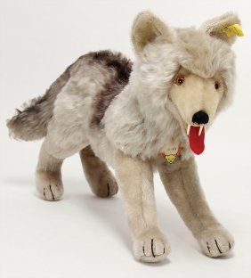 Steiff Loopy, Wolf, 35 Cm, Complete, No. 1335.00
