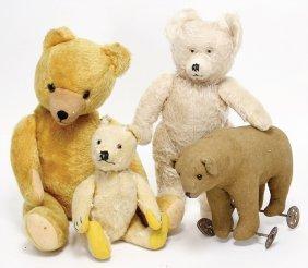Mixed Lot Of Bears, Diehm-bear, 38 Cm, Steiff Original