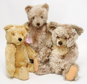 Steiff Mixed Lot Of Bears, Zotty, 45 Cm, With Button