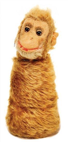 Steiff Monkey, Mohair, Felt Face, Compression Body,