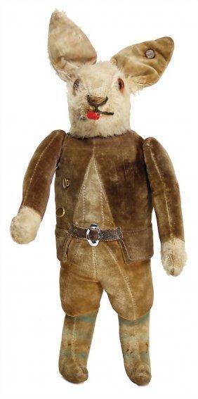 Steiff Hare, 24 Cm, With Button, Mohair Is A Little Bit