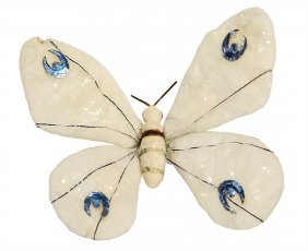 Christmas Tree Decoration, Cotton Wool, Butterfly, 10