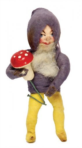 Christmas Tree Decoration, Mass, Dwarf With Fly Agaric,